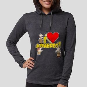 I Heart Adverbs Womens Hooded Shirt