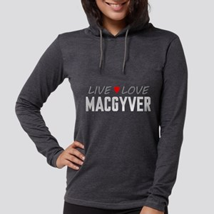 Live Love MacGyver Womens Hooded Shirt