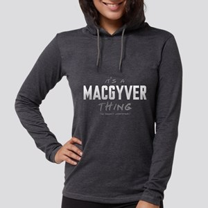 It's a MacGyver Thing Womens Hooded Shirt