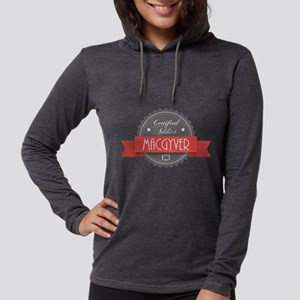 Certified MacGyver Addict Womens Hooded Shirt