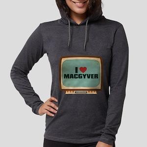 Retro I Heart MacGyver Womens Hooded Shirt