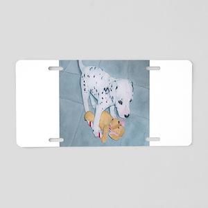 Roxie the Dalmatian Pup Aluminum License Plate