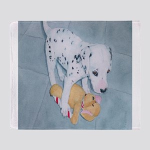 Roxie the Dalmatian Pup Throw Blanket