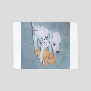 Roxie the Dalmatian Pup 5'x7'Area Rug