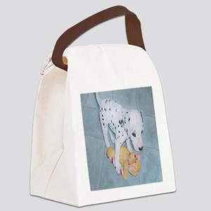 Roxie the Dalmatian Pup Canvas Lunch Bag