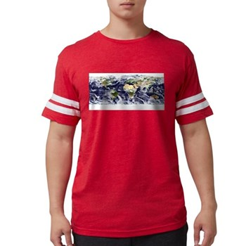 Visible Earth from Space Mens Football Shirt