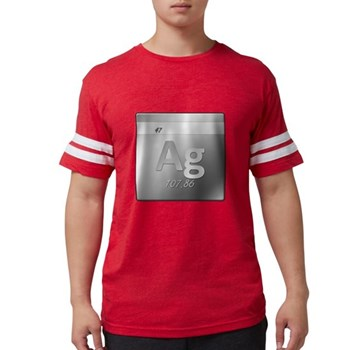 Silver (Ag) Mens Football Shirt