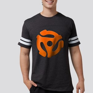 Orange 45 RPM Adapter Mens Football Shirt