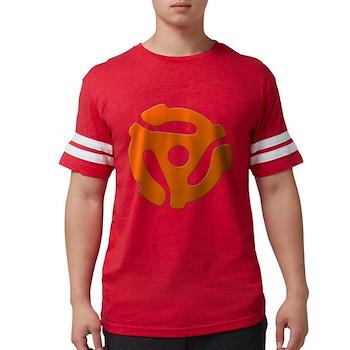 Orange 45 RPM Adapter Mens Football Shirt