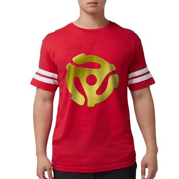 Gold 45 RPM Adapter Mens Football Shirt