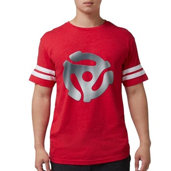 Silver 45 RPM Adapter Mens Football Shirt
