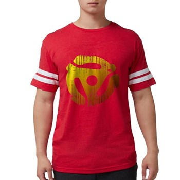 Distressed 45 RPM Adap Mens Football Shirt