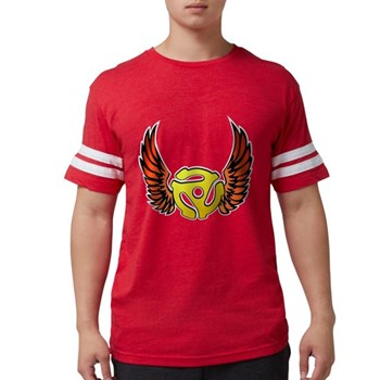 Red Winged 45 RPM Adap Mens Football Shirt