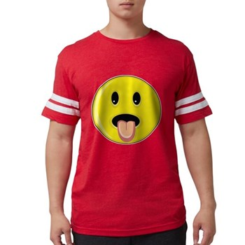 Smiley Face - Tongue Out Mens Football Shirt