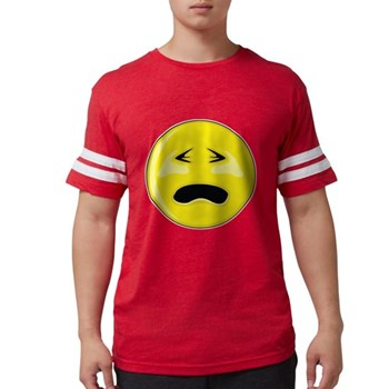 Smiley Face - Crying Mens Football Shirt