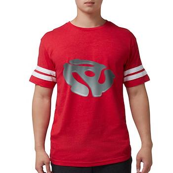 Silver 3D 45 RPM Adapter Mens Football Shirt