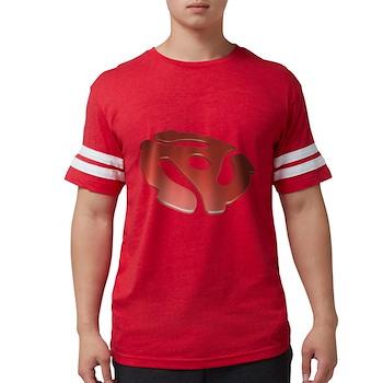 Red 3D 45 RPM Adapter Mens Football Shirt
