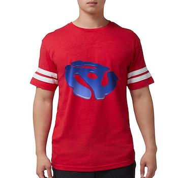 Blue 3D 45 RPM Adapter Mens Football Shirt