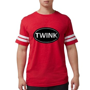 TWINK Black Euro Oval Mens Football Shirt
