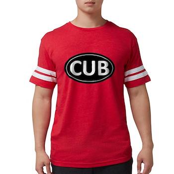CUB Black Euro Oval Mens Football Shirt