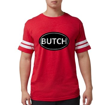 BUTCH Black Euro Oval Mens Football Shirt