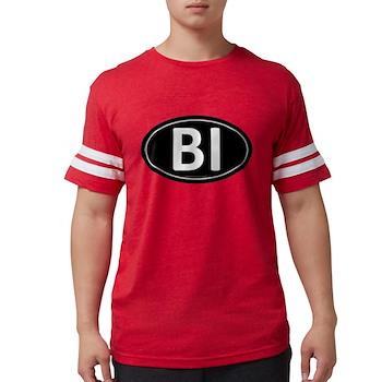 BI Black Euro Oval Mens Football Shirt