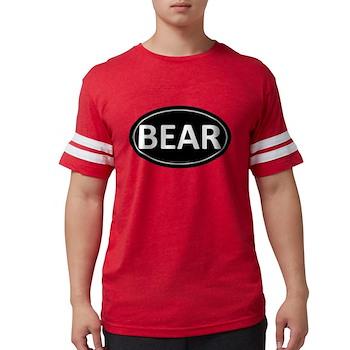 BEAR Black Euro Oval Mens Football Shirt