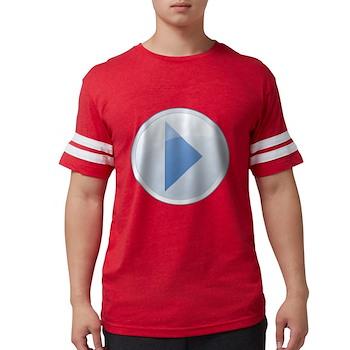 Play Button Mens Football Shirt