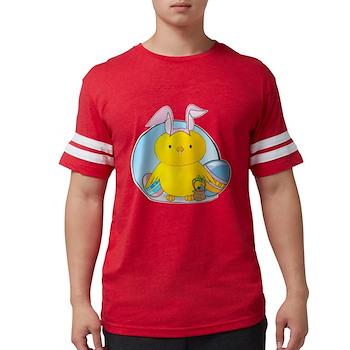 Easter Bunny Chick Mens Football Shirt