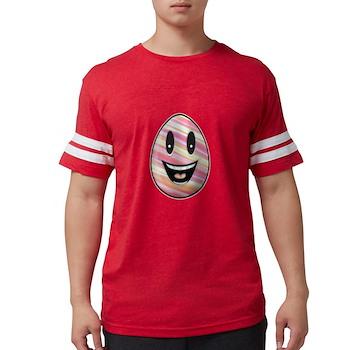 Laughing Easter Egg Mens Football Shirt