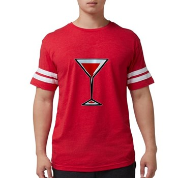 Vampire Martini Mens Football Shirt
