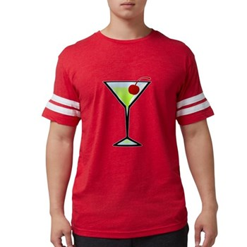 Green Apple Martini Mens Football Shirt