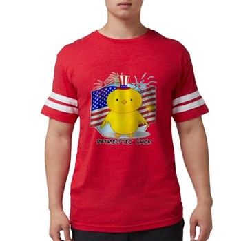 Patriotic Chick Mens Football Shirt