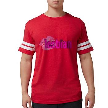Lipstick Lesbian Mens Football Shirt
