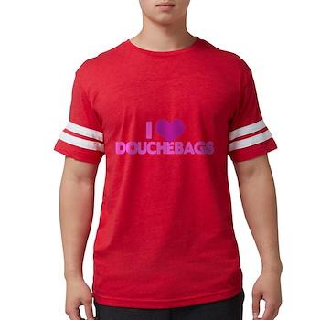 I Heart Douchebags Mens Football Shirt