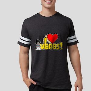 I Heart Verbs - Schoolhouse R Mens Football Shirt