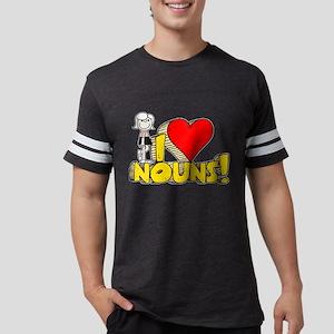 I Heart Nouns Mens Football Shirt