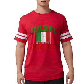 Italians Are Better Kissers Mens Football Shirt