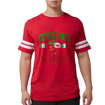 Kiss Me I'm Italian Mens Football Shirt