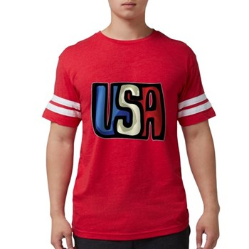 Red, White and Blue USA Mens Football Shirt