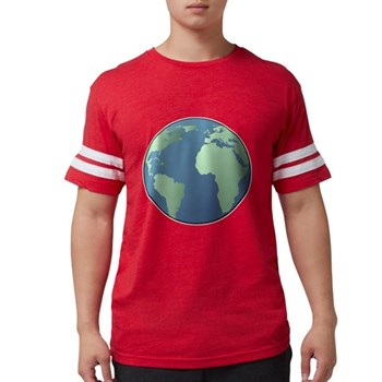 Planet Earth Mens Football Shirt