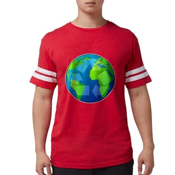 Planet Earth - Recycle Mens Football Shirt
