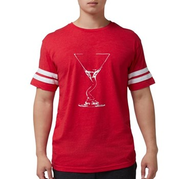 Bent Martini Glass Mens Football Shirt