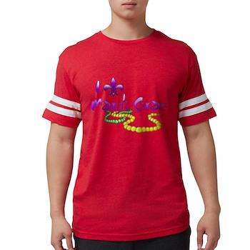 I Fleur-de-Lis Mardi Gras Mens Football Shirt