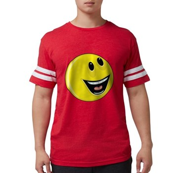 Smiley Face - Looking Up/Left Mens Football Shirt
