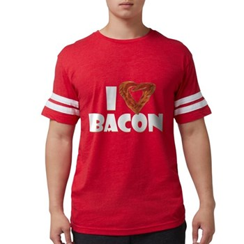 I Heart Bacon Mens Football Shirt