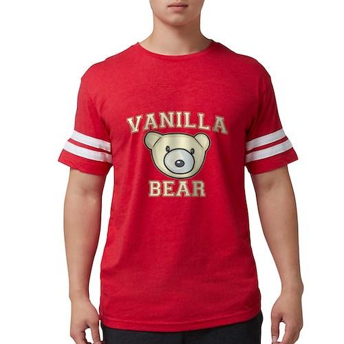 Vanilla Bear Mens Football Shirt
