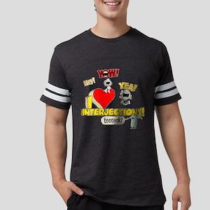 I Heart Interjections Mens Football Shirt