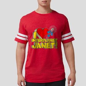 I Heart Interplanet Janet! Mens Football Shirt