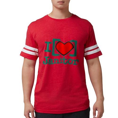 I Heart Janitor Mens Football Shirt